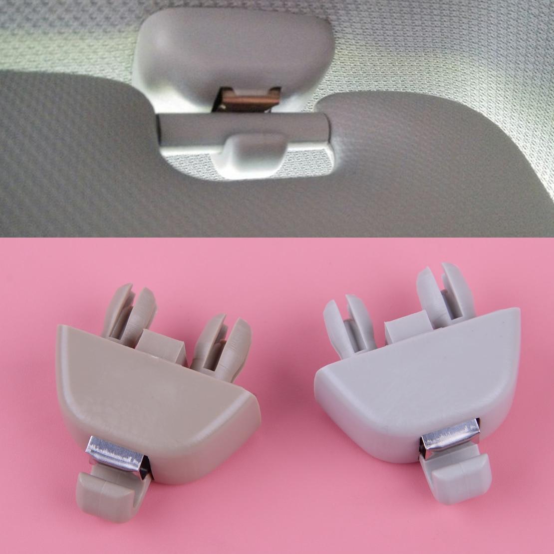 Qiilu Interior Sun Visor Clip Hook for Audi A1 A3 A4 S4 A5 S5 Q3 Q5 TT Quattro 8E0857562A