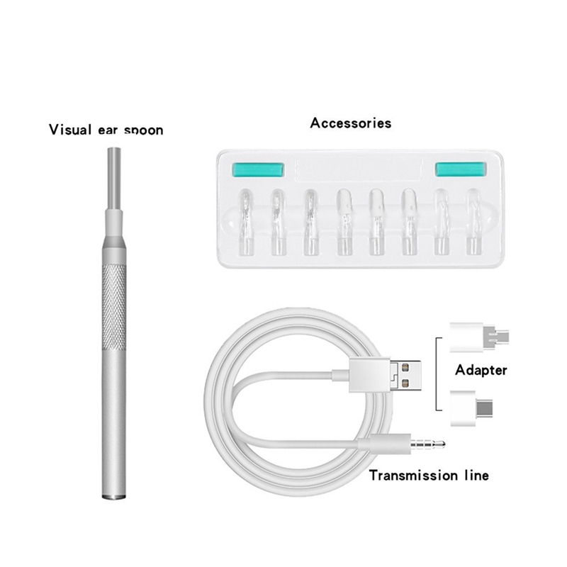 3 9 mm HD Visual Ear Spoon Endoscope Portable Borescope 3 In 1 USB Ear Cleaning