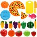 Plastic Fruit Vegetable Cutting Toy Set Kids Baby Early Leaning Education Toy 24 Pcs/ Set  Fruit Vegetable Kitchen Cutting Toys