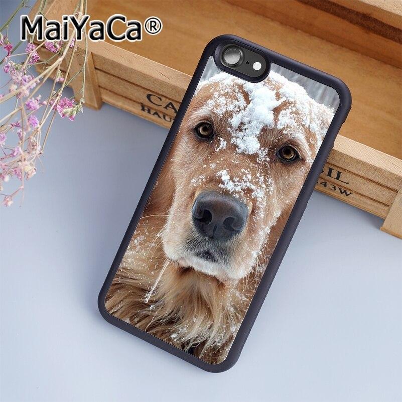 MaiYaCa Golden Retriever Dog Cute Puppy  Print Soft TPU Mobile Phone Case Funda For iPhone 7 Back Cover Skin Shell