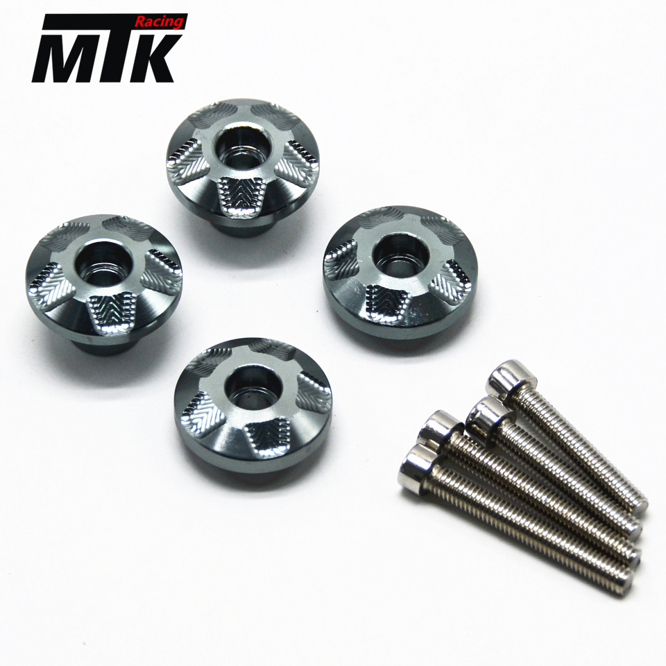 MTKRACING Free delivery Aluminum Front fender trim screws For KAWASAKI Z650 z650 2017 17 free delivery 811600 4623
