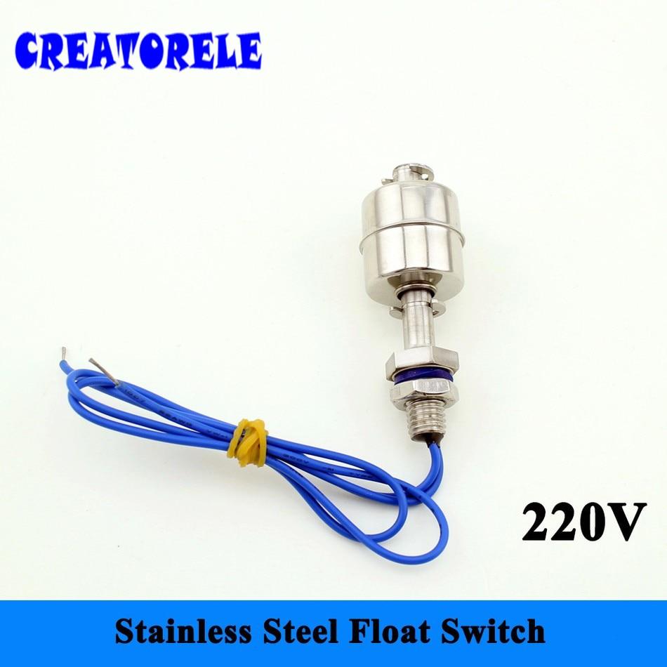 220V SFS6010 Mini Stainless steel Tank Pool liquid Water level Sensor Horizontal float switch