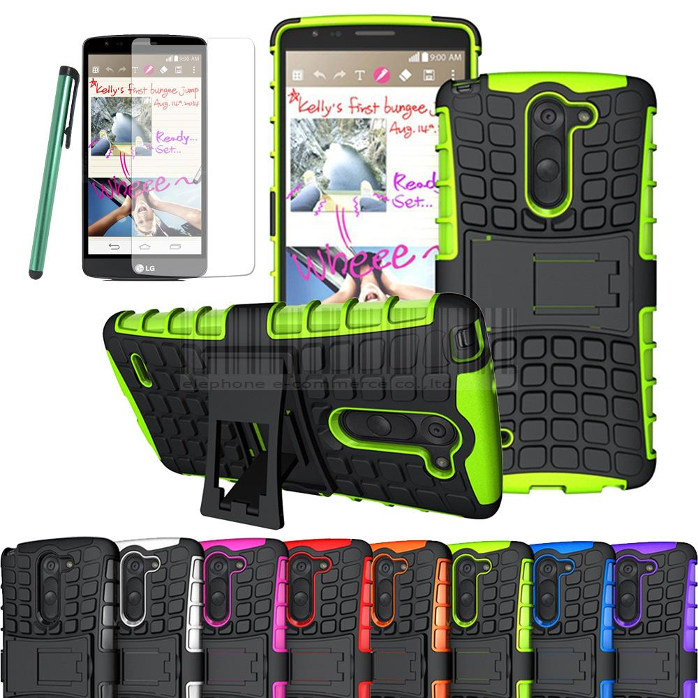 Dual Layer Tpu Pc Armor Heavy Duty Hard Case Protective Skin Flim 2in1 Brushed Hybrid Soft Lg K8 Hardcase Stylus For G3 D690 D690n Not In Fitted Cases From Cellphones