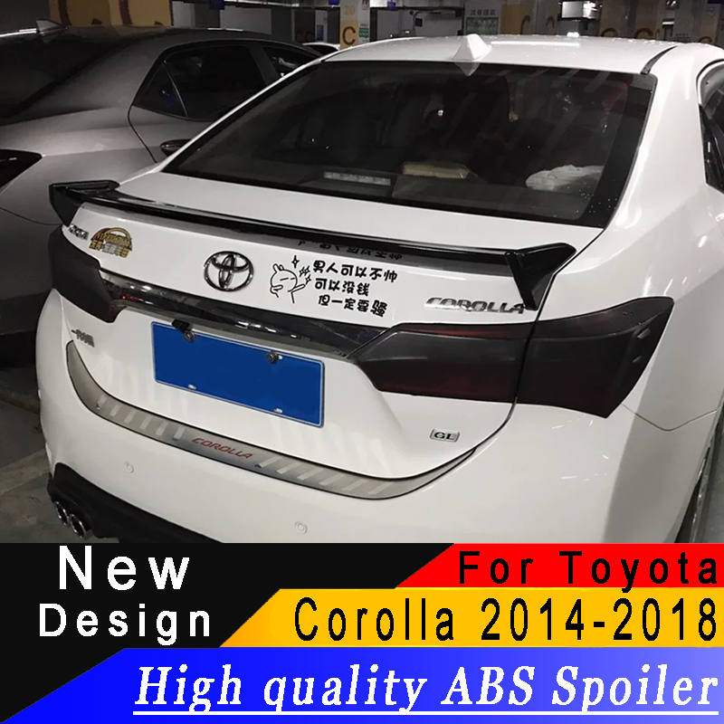 For <font><b>Toyota</b></font> <font><b>Corolla</b></font> 2014 to 2018 ABS material new type <font><b>spoiler</b></font> any color or primer car rear wing car modified <font><b>spoiler</b></font> image