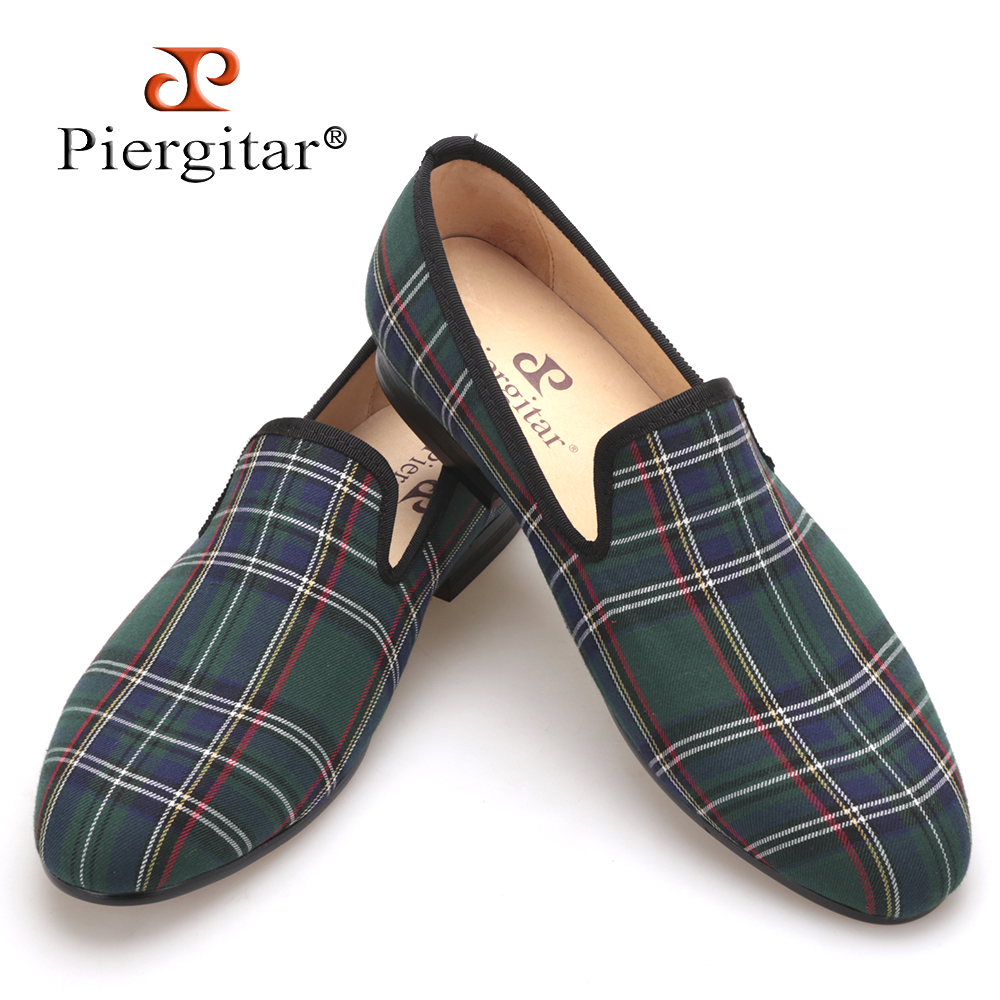 Scotch plaids Fabric Handmade Men shoes Red and Blue Casual loafers Banquet and Prom Men Flats Plus Size US 4-17 Free shipping flower lattice velvet fabric men shoes men smoking slipper prom and banquet male loafers men flats size us 4 17 free shipping