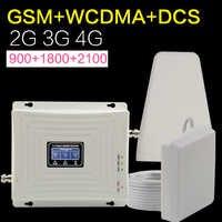 Europa GSM WCDMA DCS LTE 2g 3g 4g celular de señal de teléfono celular de 900, 1800, 2100 Mhz antena de refuerzo de señal móvil tribanda