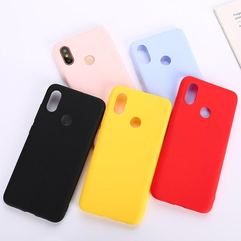 Candy Color TPU Silicone Case For Xiaomi Mi 9 SE Mi 8 Lite A1 A2 A3 Lite Redmi Note 6 5 7 8 9 7A 6A 8A 9A Pro 5 Plus Matte Case(China)