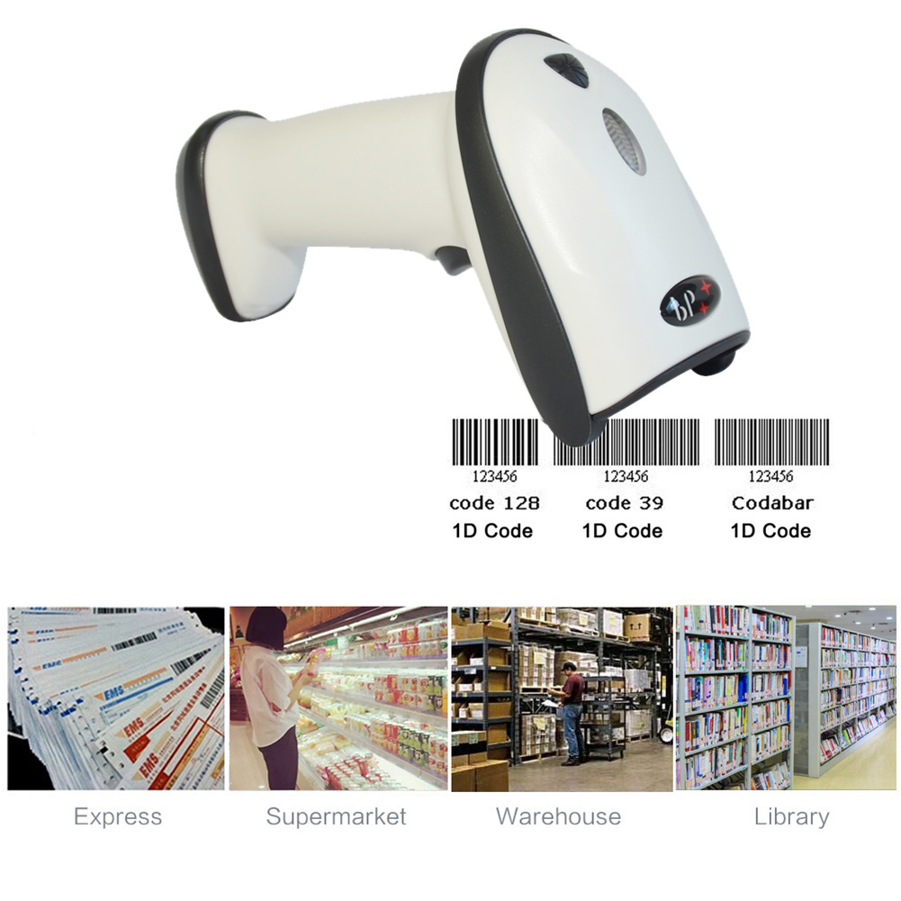 New 2.4G Wireless USB Automatic Laser Barcode Scanner Rechargeable Handheld Bar-code Reader For POS PC Laptop BP-BP-616 QJY9 usb laser handheld barcode scanner reader for desktop laptop 2m cable page 2