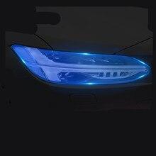 Для Volvo S60 XC90 XC60 V90 аксессуары головной светильник защитная пленка Цвет черный дымчатый матовый светильник головной светильник пленки углеродное волокно автомобильные наклейки