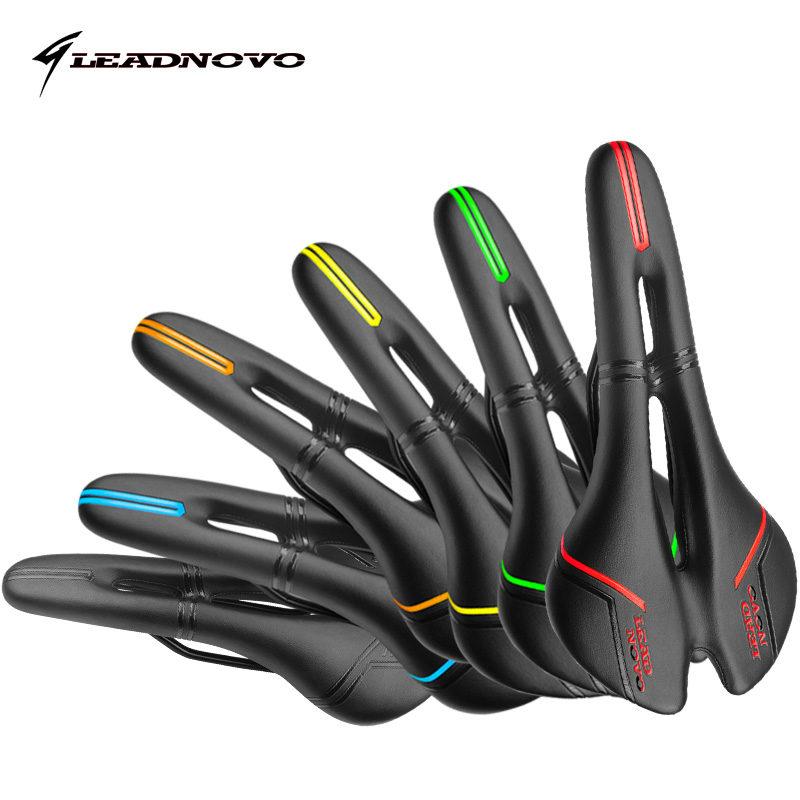 LEADNOVO 2017 carbon saddle PU leather soft sillin mtb road bicycle saddle seat italia selle cycling high quality bike parts multi color full carbon saddle road bicycle saddle and seat women bike saddle sillin bicicleta selim carbono