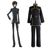 Code Geass Cosplay Lelouch Lamperouge Japanese School Uniform Black Set Mens Code Geass Costume