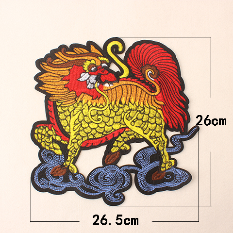 Large Animal Lion Cloud Pattern Embroidered Patch Clothing Accessories Hole  Repair Sticker Embroidery Patch Down Jacket Decor-in Patches from Home    Garden ... 67519da25fb9