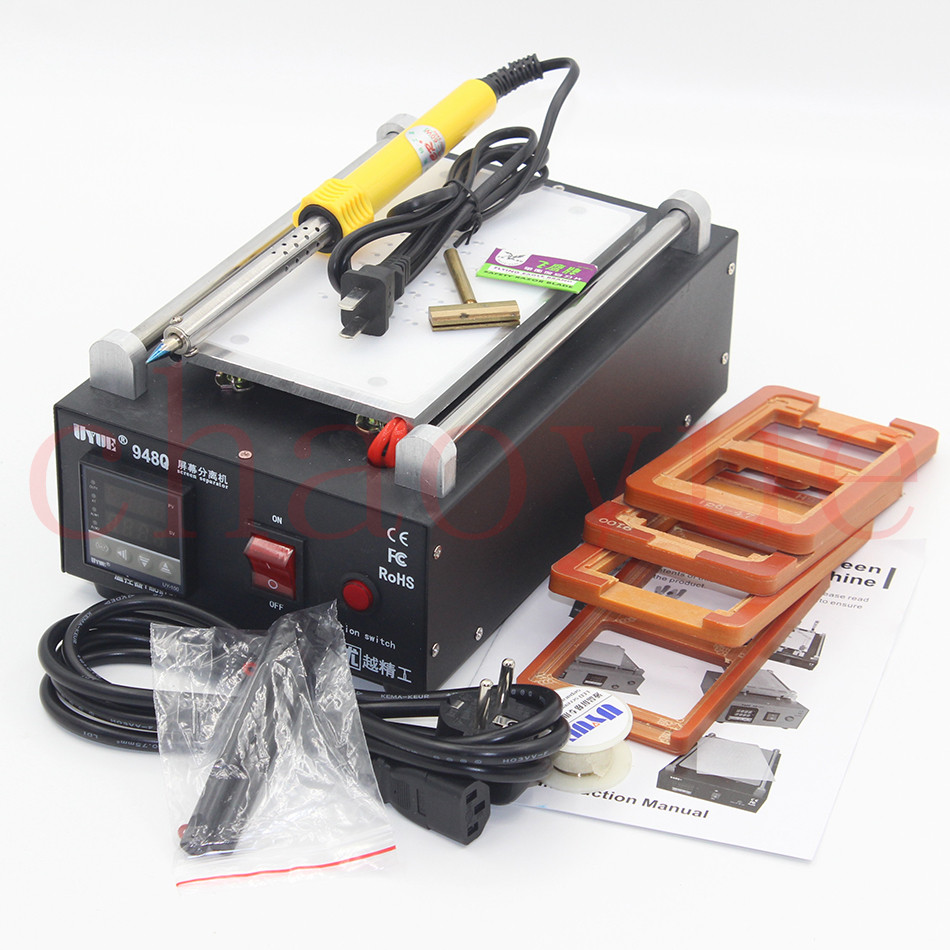 Metal Body Built-in Vacuum Pump Mobile Phone LCD Touch Screen Separator Machine Max 7-inch Lens Glass Repair + 100m Cutting Wire free shipping screen repair machine kit ly 946d lcd separator for 5 inch mobile screen 12 in 1 separate machine