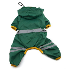 ძაღლი jumpsuit Pet Dog Cat Raincoat ტანსაცმელი Puppy Glisten Bar Hoody Waterproof Rain Rain Jackets საუკეთესო