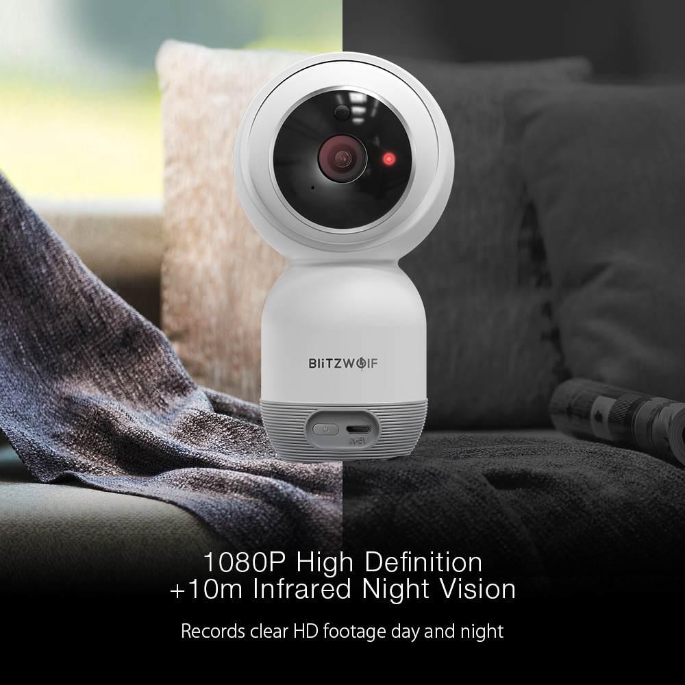 Blitzwolf BW-SHC1 1080P Wand-montiert PTZ WiFi Ip-kamera Motion Erkennen Smart Home Security Monitor unterstützung Sd-karte wolke Lagerung