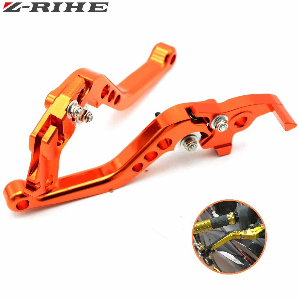 Motorcycle Brake Levers adjustable Folding Bike extensible CNC Clutch Levers  For KTM 390 Duke 390Duke Duke390 Orange billet alu folding adjustable brake clutch levers for motoguzzi griso 850 breva 1100 norge 1200 06 2013 07 08 1200 sport stelvio