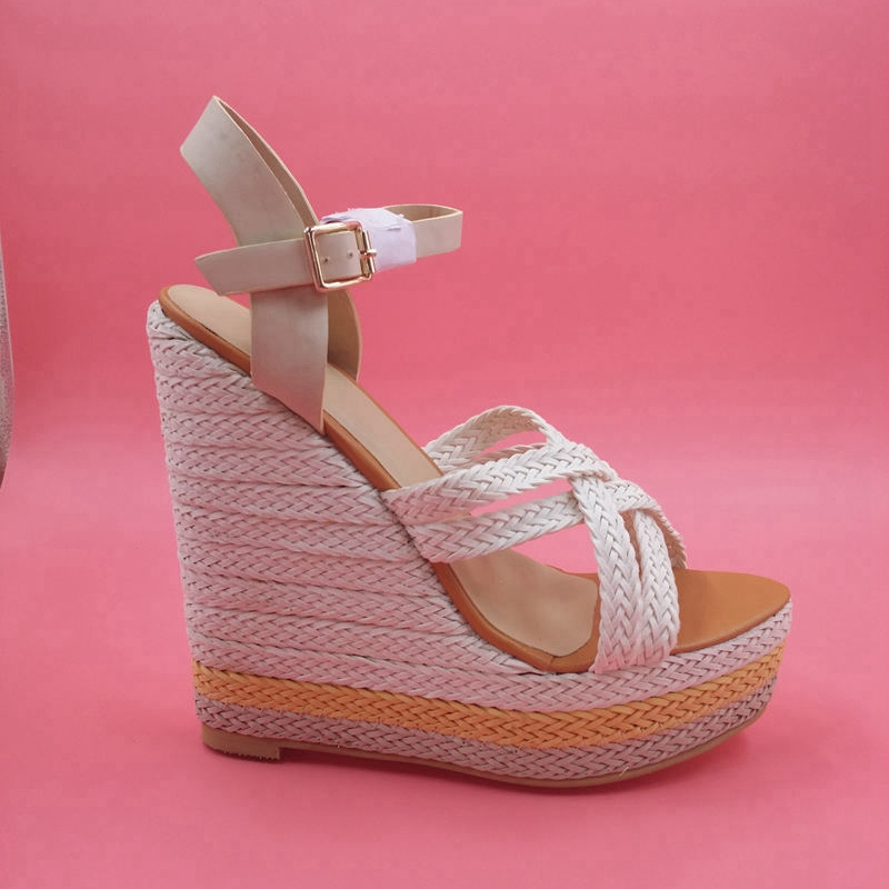 New Brand Summer Women Sandals Wedges High Platform Cross Tied Ankle Strap Open Toe High Heels For Dress Ladies Shoes