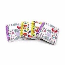Купить онлайн 1 шт. блокнот мило катушки с наклейками шаблоны прекрасный тетради канцелярские школьные принадлежности личный дневник sketchbook WH10