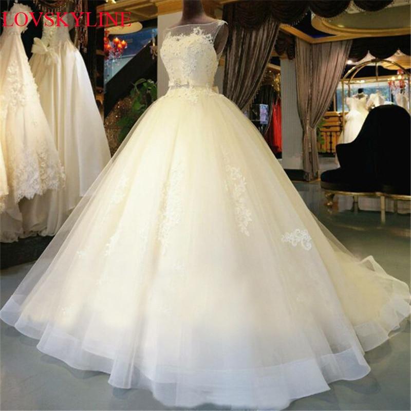 Real Photo  Spring Short Trailing Bridal Plus Size Slim Romantic Robe De Mariage Vestido De Noiva Sheer Backless Bride Dress