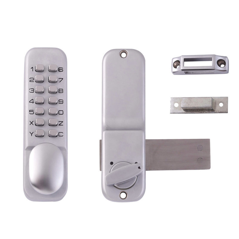 все цены на Mechanical Password Door Lock Keyless Digital Code Push Button Waterproof Zinc Alloy No Power Supply Door locks for Home School онлайн