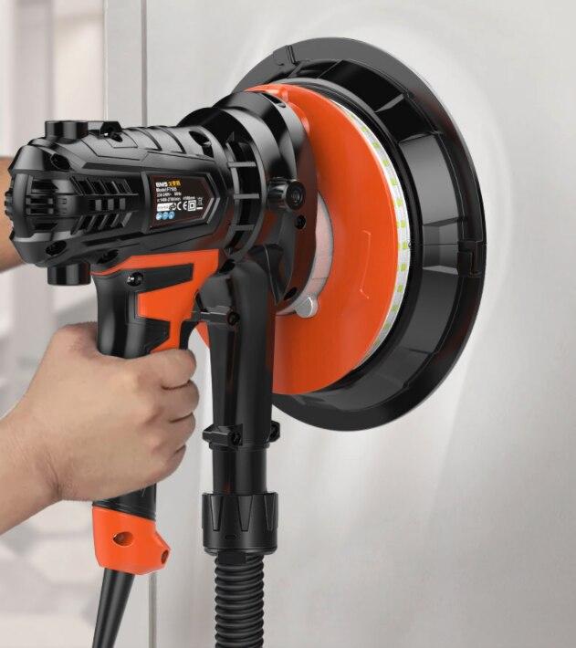 AC220V 810 Вт 180 мм ручной Электрический настенный шлифовальный станок, дисковая наждачная бумага для полирования машины, самовсасывающая Пылезащитная сумка, светодиодный свет блики|Точильные камни|   | АлиЭкспресс
