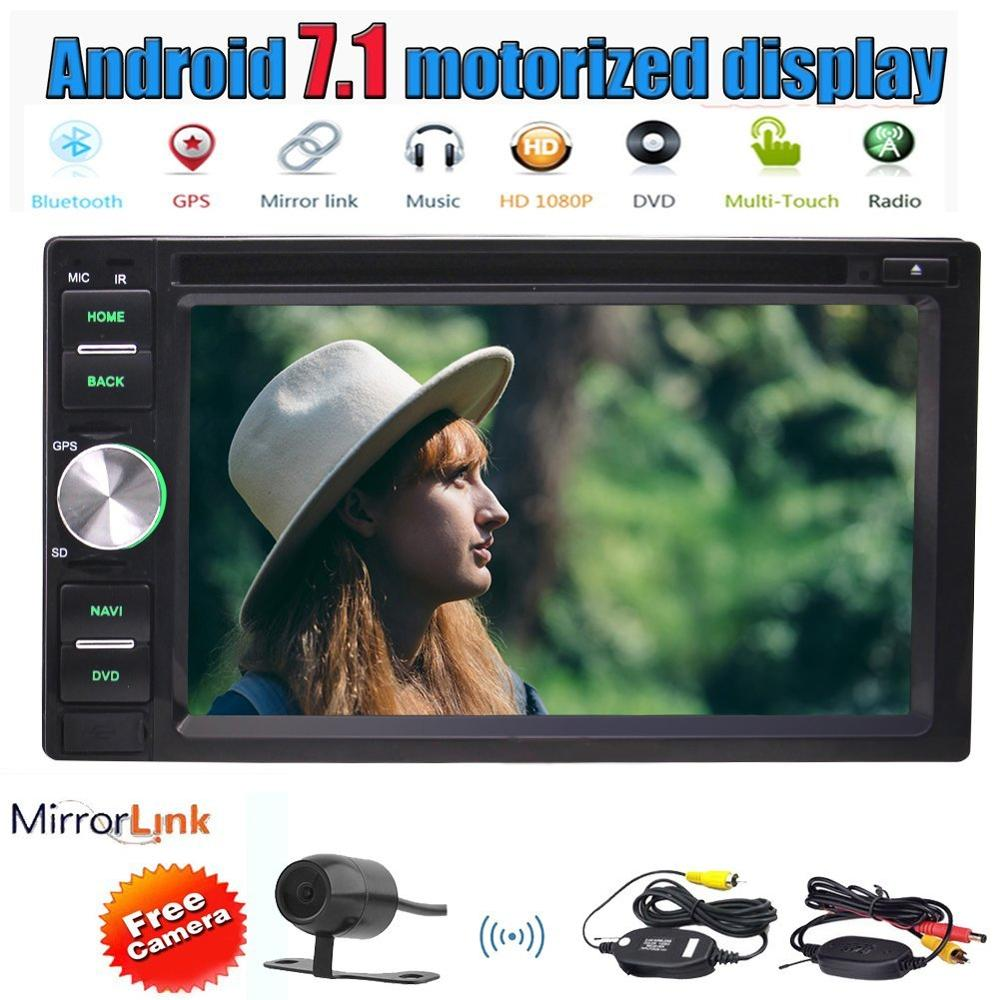 6 2 Android 7 1 Car Stereo 2GB 32GB Double din 2 Din Reverse Camera Car