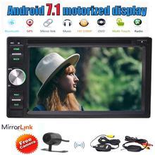 "6.2 ""Android 7.1 стерео 2 ГБ + 32 ГБ Double DIN 2 DIN + обратный Камера автомобильный DVD плеер GPS Зеркало Ссылка WI-FI МЖК USB SD dab + OBD2"
