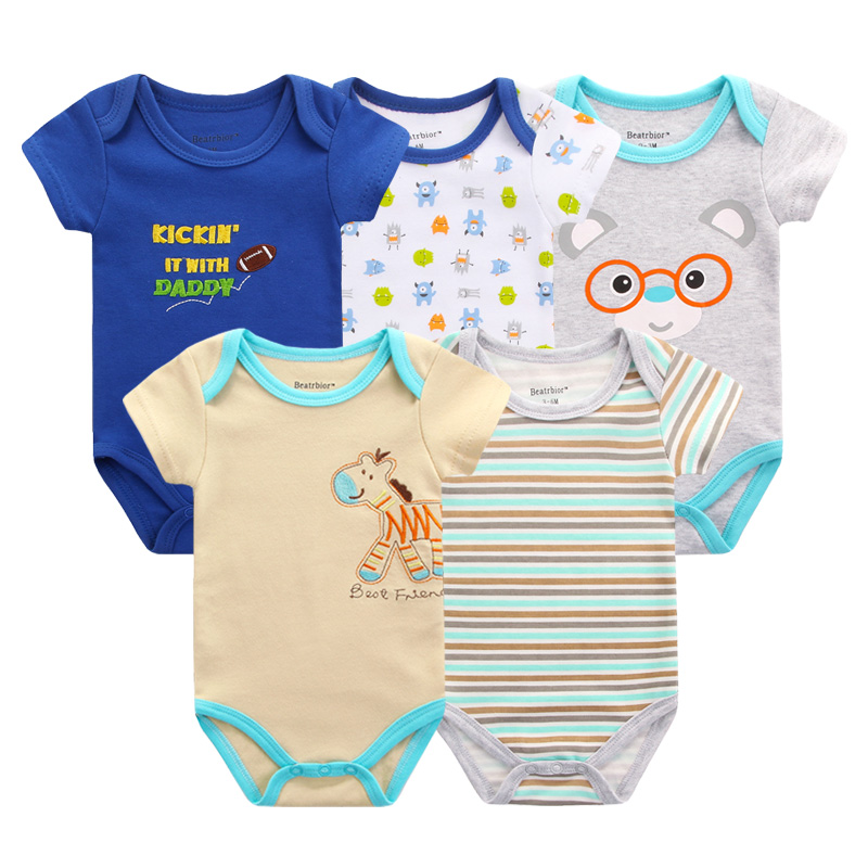 83899d176809 Baby Boy Girl Clothes Baby Rompers Cotton Short Sleeve Baby ...