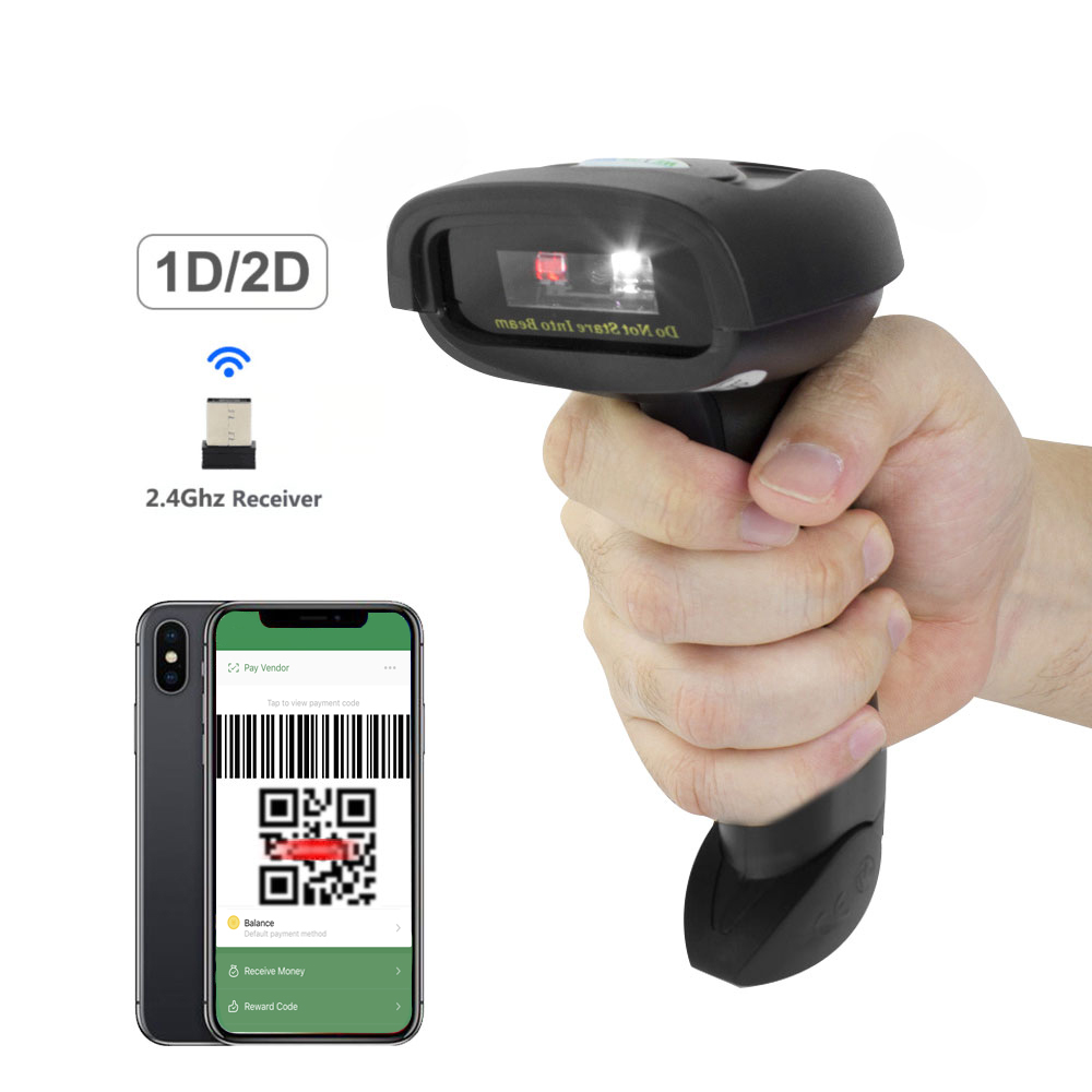 HW-L28W Wireless 2D QR Barcode Scanner And HW-L28BC Portable Bluetooth CCD Bar Code Reader Scaner For Mobile Payment Computer 2d wireless barcode area imaging scanner 2d wireless barcode gun for supermarket pos system and warehouse dhl express logistic