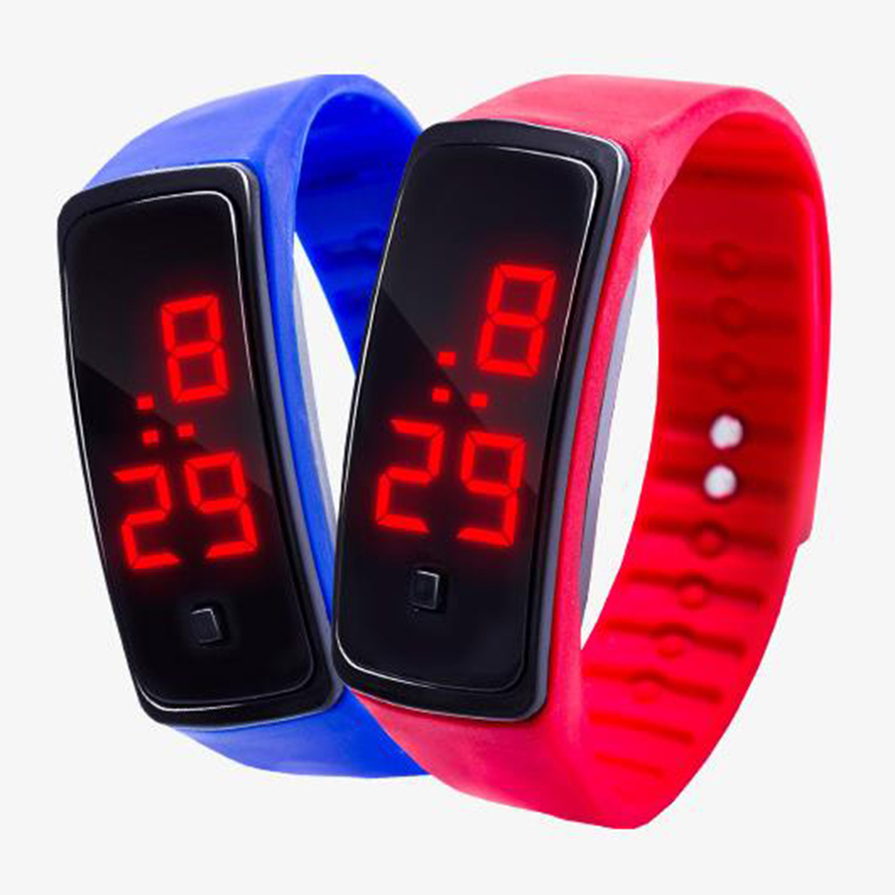 Boy Girl Kids Fashion Spor Saat Sports Waterproof Silicone Band LED Digital Electronics Wrist Watch Relogio Masculino Relojes