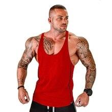ZOGAA Hot Sale Bodybuilding Tank Top Vest Fitness Muscle Workout Mens Tops Sport Shirt Y BACK Racer