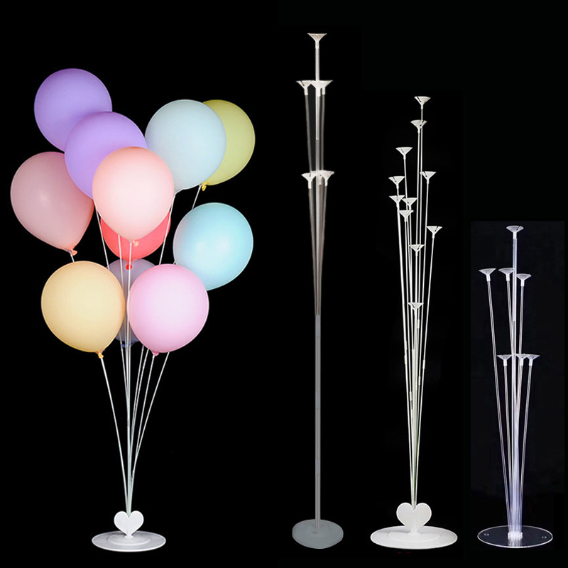 Wedding Balloons Decoration Balloon Stand Holder Column Stick Baloon Hawaii Tropical Party Balons Birthday Decor Baby Shower(China)