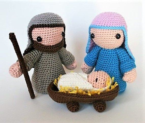 Crochet Toys  Amigurumi Keeper With Baby Model Number 0967