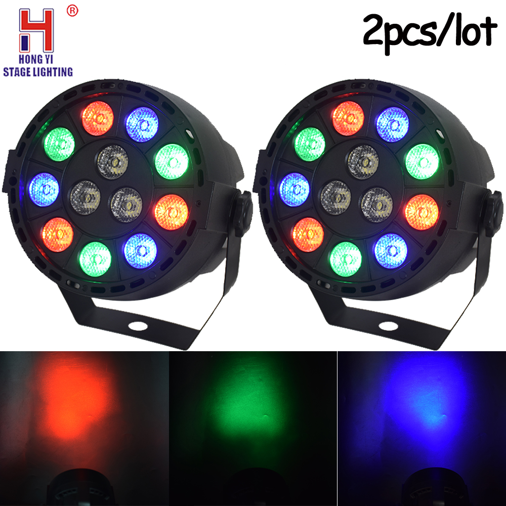 Led Par 12x3w RGBW DMX512 High Brightness Par Light For Disco Dj Family Party Wedding Lighting 2pcs/lot