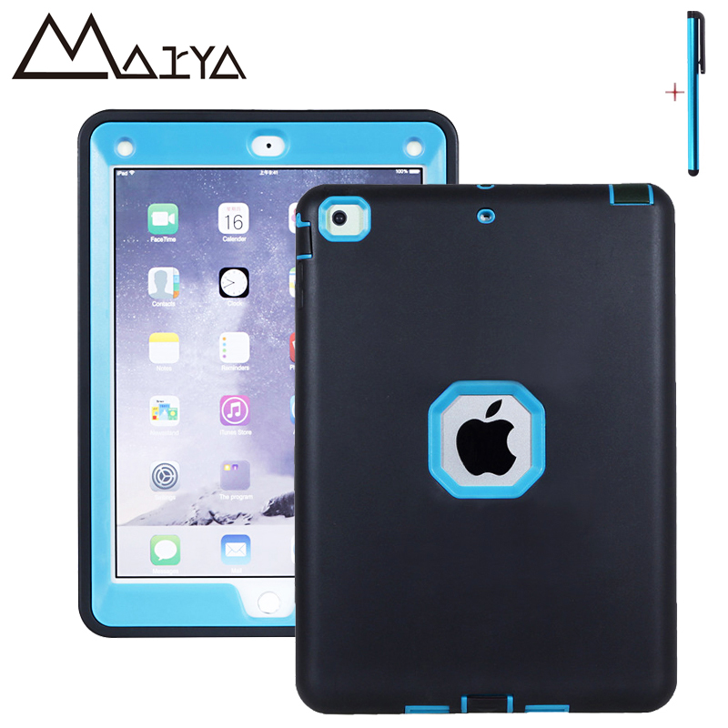 Case For iPad Air 1 Case Tablet Cover Three Layer Heavy Duty Armor Shockproof Silicon PC Hard Protective Shell For iPad 5 Fundas