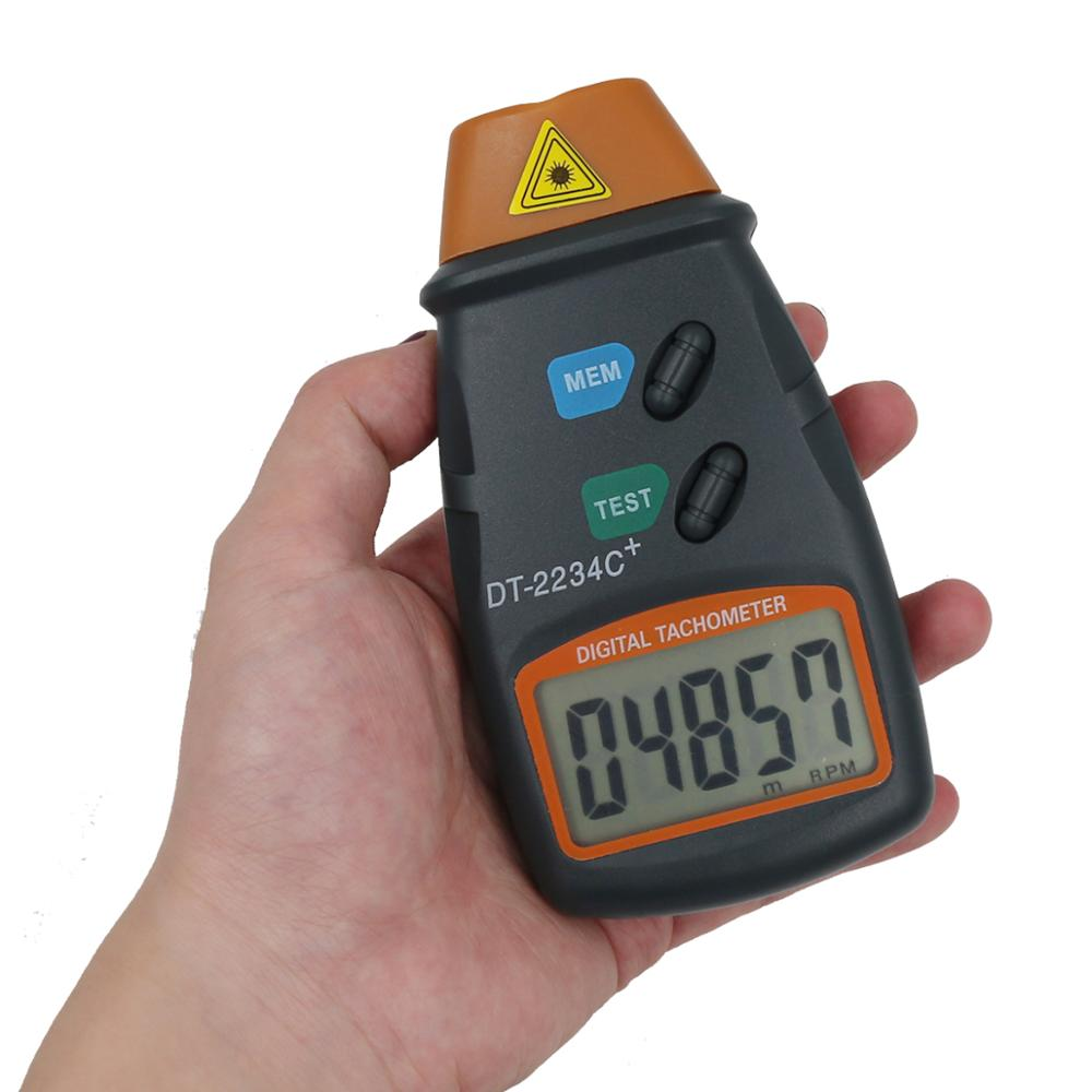 DC-2234C Intelligent Digital Laser Tachometer Reflective Mark Microcomputer Non Contact Range 2.5-99.999RPM Tester Tools 30% Off