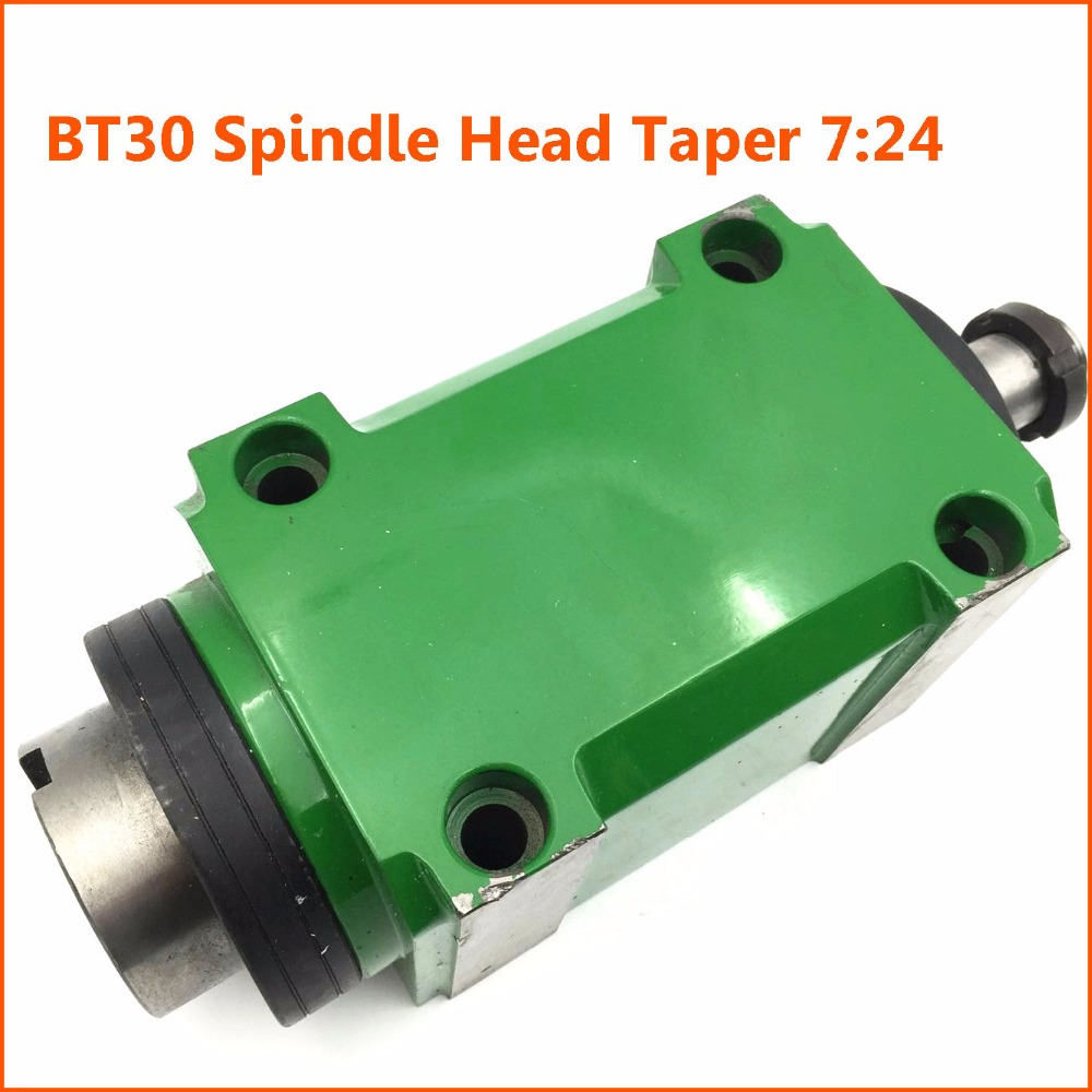 BT30 Taper Chuck 7:24 Spindle Unit 2HP 1500W Power Head 1.5KW 3000rpm For CNC Drilling Boring Cutting Machine Lathe Tool