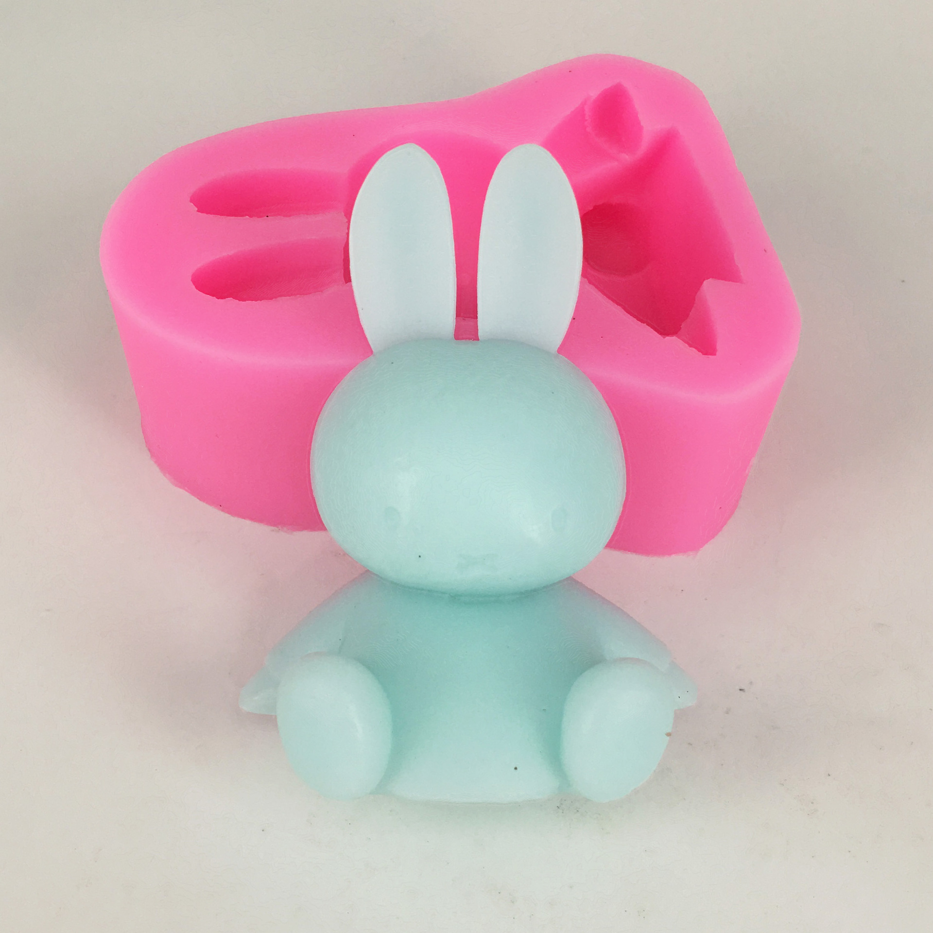 Rabbit scented Gypsum mould Silicone soap mould Handmade Soap Making Aromatic Plaster Pendant Silicon Mold