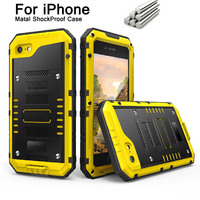 Armor King Metal Aluminum Dustproof Water Proof Cases For IPhone X 8 7 6S 6 Plus