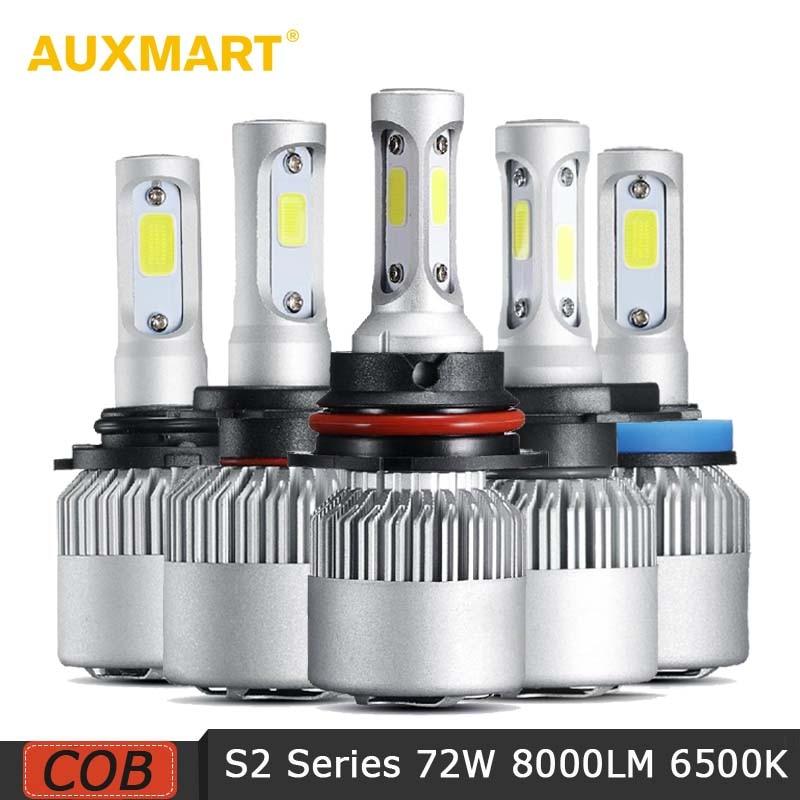 Auxmart 2Pcs 72W 8000lm H11 H4 Bombillas de faros de automóviles LED - Luces del coche