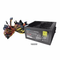 Durable HZTS 1600W Power Supply For 6 GPU Eth Rig Ethereum Coin Mining Miner Machine with Low Noise Cooling Fan
