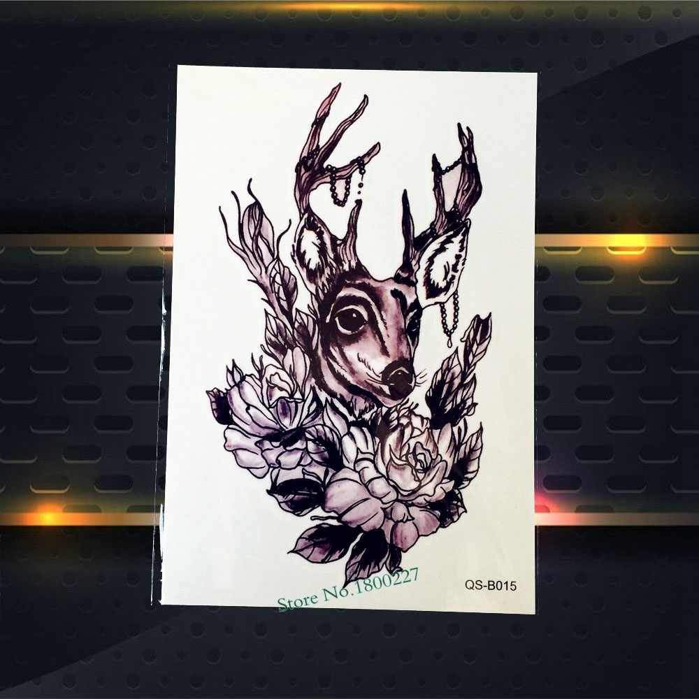 1PC Christmas Deer Elk Temporary tattoo Women Body Art Armband Tatoo PQS-B015 3D Reindeer Designs Fake Waterproof Tattoo Sticker