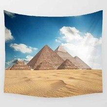Hot sale fashion king pyramid lion beautiful lake  pattern wall hanging tapestry home decoration tapiz pared