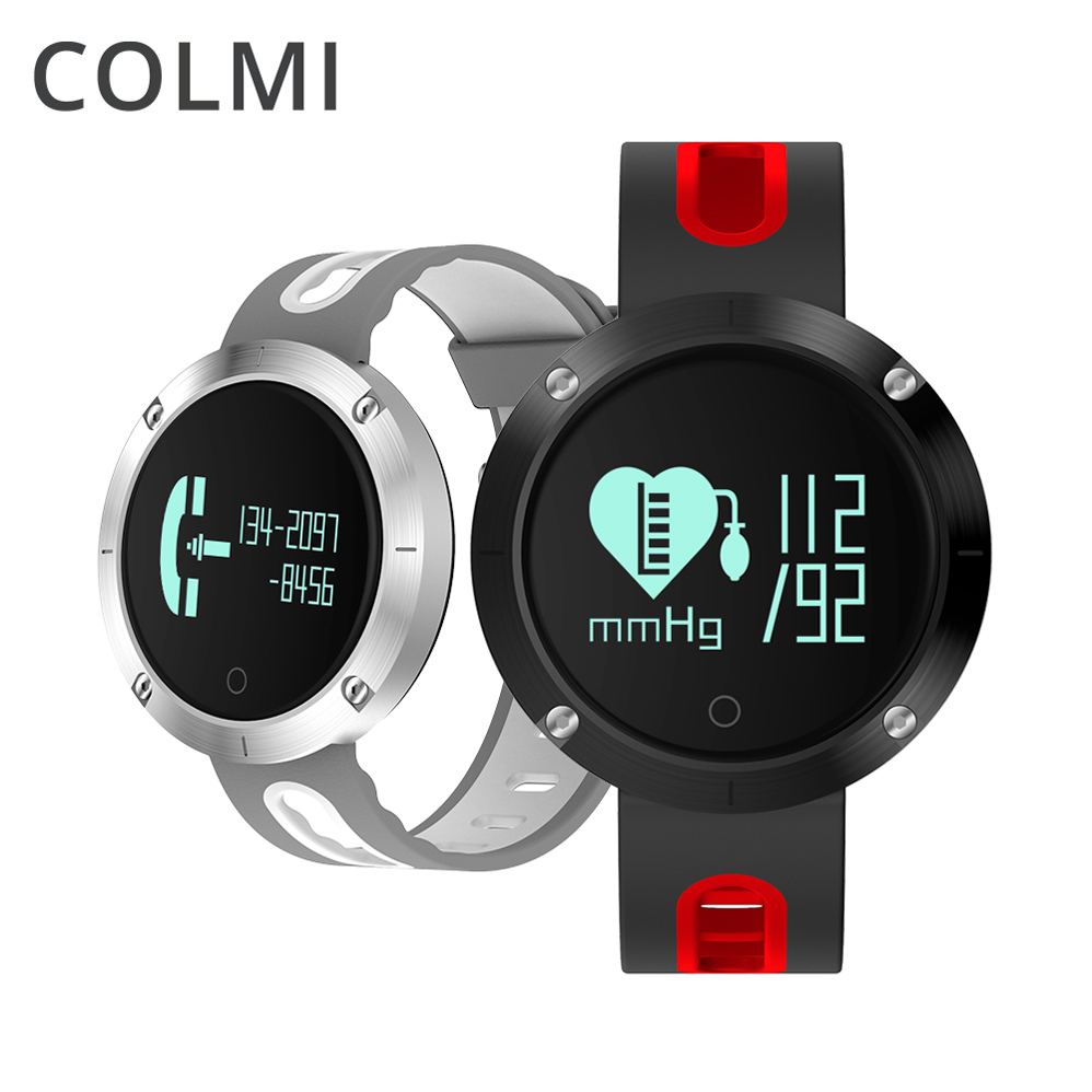 ColMi DM58 Bluetooth Sports Wristband Heart Rate Smart Watch Blood Pressure Monitor IP68 Waterproof For Android and IOS Phone colmi smart watch oled screen heart rate blood oxygen pressure brim ip68 waterproof activity tracker for android and ios phone