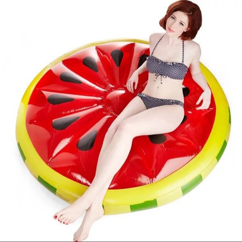 180*150cm Watermelon Pool Huge Floating Raft Swimming Ring Pools Water inflatable Bath Toys Bathing Float TD0044 high quality watermelon bed float fashion swimming ring inflatable floating row accessories pvc inflatable water toys