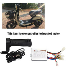 24V 500W Electric Bicycles Brushed Speed Controller & Throttle Grip Set for Electric Bicycles Scooter E-bike Motor Accessories(China)