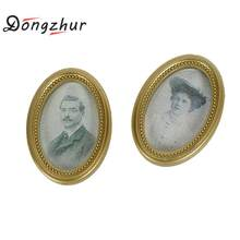 Dongzhur Resin Frame Couple Photos Dollhouse Picture Wall Painting 1:12 Dollhouse Miniatures Furniture(China)
