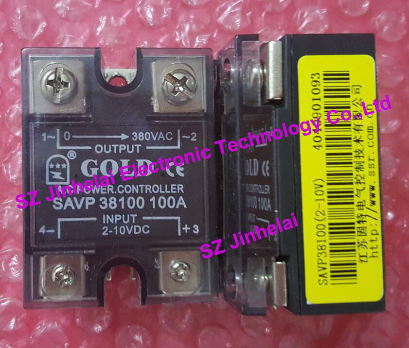 SAVP38100 New and original GOLD AC Solid state relay 100A 380VAC 2-10VDC OR 4-20mA normally open single phase solid state relay ssr mgr 1 d48120 120a control dc ac 24 480v