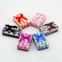 Cardboard Earrings Ring Packaging Box 5x8cm Jewelry Gift Box Multi Color Necklace Display Fashion Jewelry Sets Storage Case 32pc