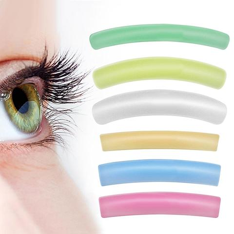 NEW 6Pairs Reusable Curl Eyelash Patches Lash Perm Rods Lift Stickers Makeup Tools Eye Lashes Beauty Tools Pakistan